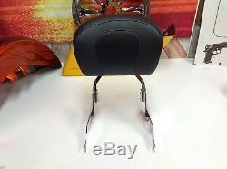 04-17 OEM Harley Sportster Sideplates Sissy Bar, Passenger Backrest Pad