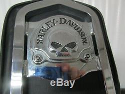 04-19 Harley Davidson XL Sportster Detachable Sissy Bar Backrest WILLIE G SKULL