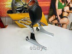 06-17 OEM Harley Softail Fatboy Sissy Bar Quick Detachable Passenger Backrest