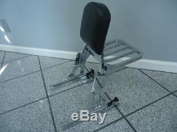 06+harley Dyna Detachable Backrest Sissy Bar & Luggage Rack Street Bob Low Rider