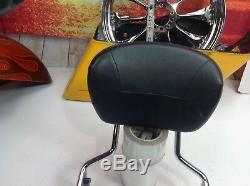 09-18 OEM Harley CVO Touring Quick Detachable Sissy Bar Passenger Backrest