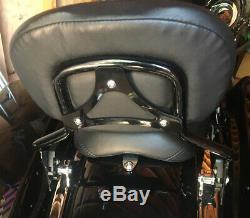 09-20 OEM Black Harley Touring Detachable Sissy Bar Passenger Backrest 54248-09A