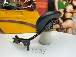 09-20 OEM Harley Touring Detachable Leather Sissy Bar Passenger Backrest Pad