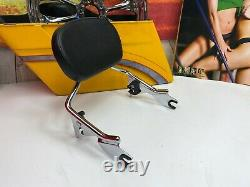 09-20 OEM Harley Touring Detachable Sissy Bar Passenger Backrest Pad