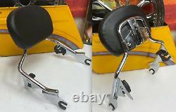 09-21 OEM Harley CVO Touring Detachable Sissy Bar Passenger Backrest Chrome
