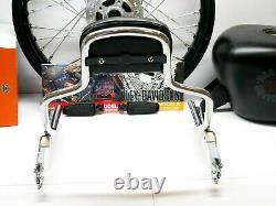 09-21 OEM Harley CVO Touring Detachable Sissy Bar Passenger Backrest Pad Black