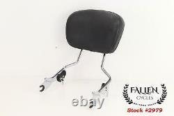 09 & + Harley Glide King H-D DETACHABLES Backrest Sissy Bar Upright Seat & Pad