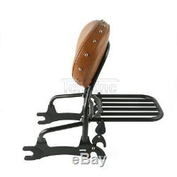 12 Backrest Sissy Bar Luggage Rack For Indian Chief Classic 14-18 Dark Horse 16