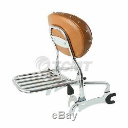12 Backrest Sissy Bar + Luggage Rack For Indian Chief Classic Vintage 14-18 17