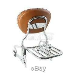 12'' Backrest Sissy Bar Luggage Rack For Indian Chief Classic Vintage Dark Horse