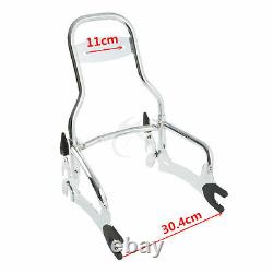 12 Chrome Sissy Bar Backrest Fit For Indian Chief Classic Vintage Dark Horse