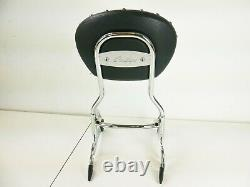 16-20 Indian Chief Steel 14in Quick Release Passenger Sissy Bar Back Rest Chrome