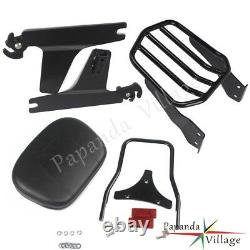 1x Detachable Sissy Bar Backrest withLuggage Rack For Harley FXDF and FXDFSE 08 09