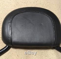 2009-17 Harley Davidson Black Quick Detach Backrest Sissy Bar Touring