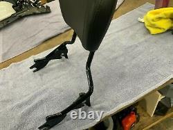2009-21 Black harley davidson quick release Sissy Bar backrest & pad touring FLH