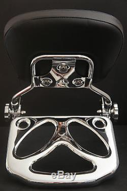 2014 New Detachable Backrest Sissy bar For Harley Touring 1997-2008