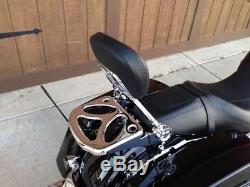 2014 up Detachable Backrest Sissy bar 4Pt Docking Kit Harley Davidson Touring