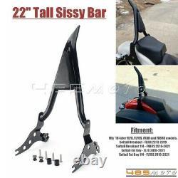 22'' Backrest Sissy Bar Backrest For Harley Softail Breakout FXBRS 114 2018-2021