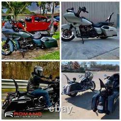 22 Tall Backrest Sissy Bar For Harley Softail 18-21 FLFB FLFBS FXBR FXBRS Black