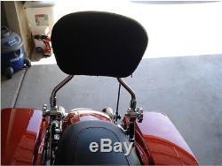 4 Point Docking Kit + Detachable Backrest Sissy bar Harley Davidson 09-13