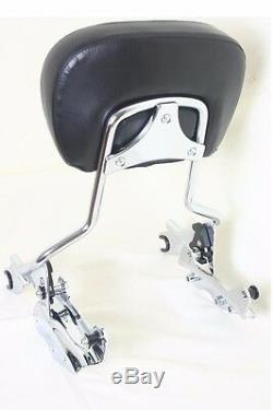 4 Point Docking Kit + Passenger Backrest Sissy bar Harley Davidson'09-'13