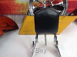 96-01 Genuine Harley Dyna Detachable Sissy Bar Passenger Backrest Sideplates Pad