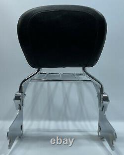 97-07 Harley Roadking Electra Glide Detachable Passenger Backrest Rack Sissybar