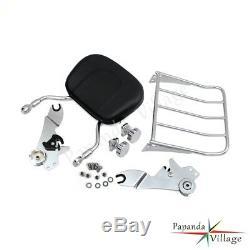 Adjustable Detachable Backrest Sissy Bar For Harley Touring Road King 2009-2017
