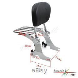 Adjustable Detachable Backrest Sissy Bar For Sportster 94-03 Harley Davidson