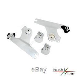 Adjustable Detachable Backrest Sissy Bar Luggage Rack For Harley Softail 2000-05