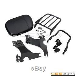 Adjustable Detachable Backrest Sissy Bar Luggage Rack For Harley Sportster 1200