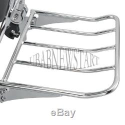 Adjustable&Detachable Backrest Sissy Bar + Luggage Rack For Harley Touring 09-Up
