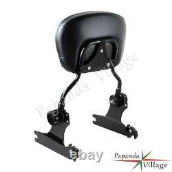 Adjustable Detachable Backrest Sissy Bar WithLuggage Rack For Harley Softail 06-UP