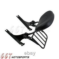 Adjustable Detachable Backrest Sissy Bar with Luggage Rack For FXDF FXDWG 08-17