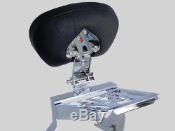 Adjustable & Detachable Sissy Bar/Backrest/Rack Yamaha V Star 1100