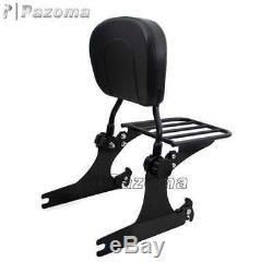 Adjustable Detachable Sissy Bar Passenger Backrest Fits Harley Street Bob FXDB