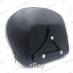 Adjustable Detachable Sissy Bar for 04-UP Harley Sportster Backrest with Rack