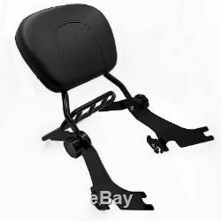Adjustable Detachable Sissy Bar for 04 UP Harley Sportster Backrest with Rack