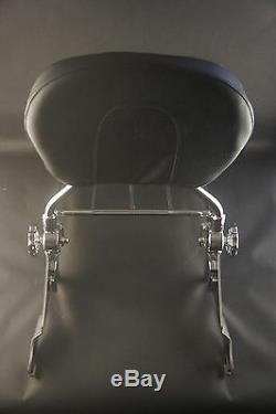 All Chrome Detachable System Backrest Sissy bar Harley Davidson Touring 09 UP