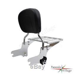 Aluminum Detachable Passenger Backrest Sissy Bar For Harley Touring Road King