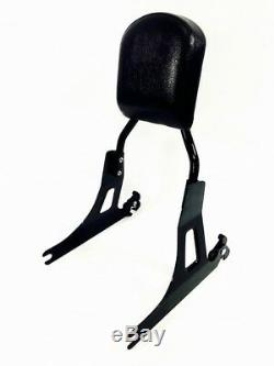 BLACK HARLEY DYNA detachable BACKREST SISSY BAR SUPER GLIDE STREET BOB FXDC FXDB