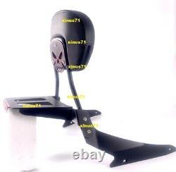 BLACK Sissy Bar Backrest Luggage Rack Docking Hardware Suzuki Boulevard M109R