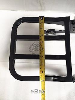 BLACK harley fatboy detachable backrest sissy bar softail fat boy 00-2006 FLSTF