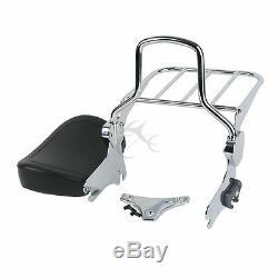 Backrest Sissy Bar & Luggage Rack Docking Kit For Harley Touring Road King 97-08