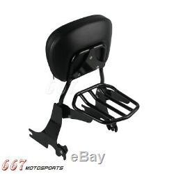 Backrest Sissy Bar Luggage Rack For 2004-2016 Harley-Davidson Sportster 1200 883
