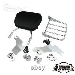 Backrest Sissy Bar Luggage Rack For Harley-Davidson Sportster XL883 1200 2004-20