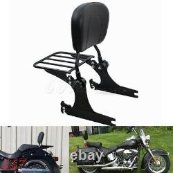 Backrest Sissy Bar Luggage Rack For Harley Dyna Low Rider Super Glide 06-18 2005