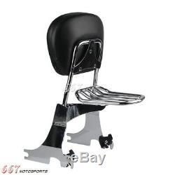 Backrest Sissy Bar & Luggage Rack For Harley Sportster XL 883 1200 Custom 94-03