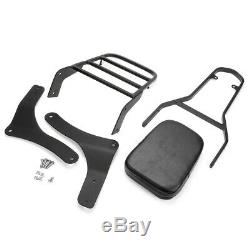 Backrest Sissy Bar+Luggage Rack For Kawasaki Vulcan 900 VN900B VN900D 06-18