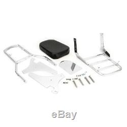 Backrest Sissy Bar Luggage Rack Pad For Kawasaki Vulcan VN 400 800 1995-2012